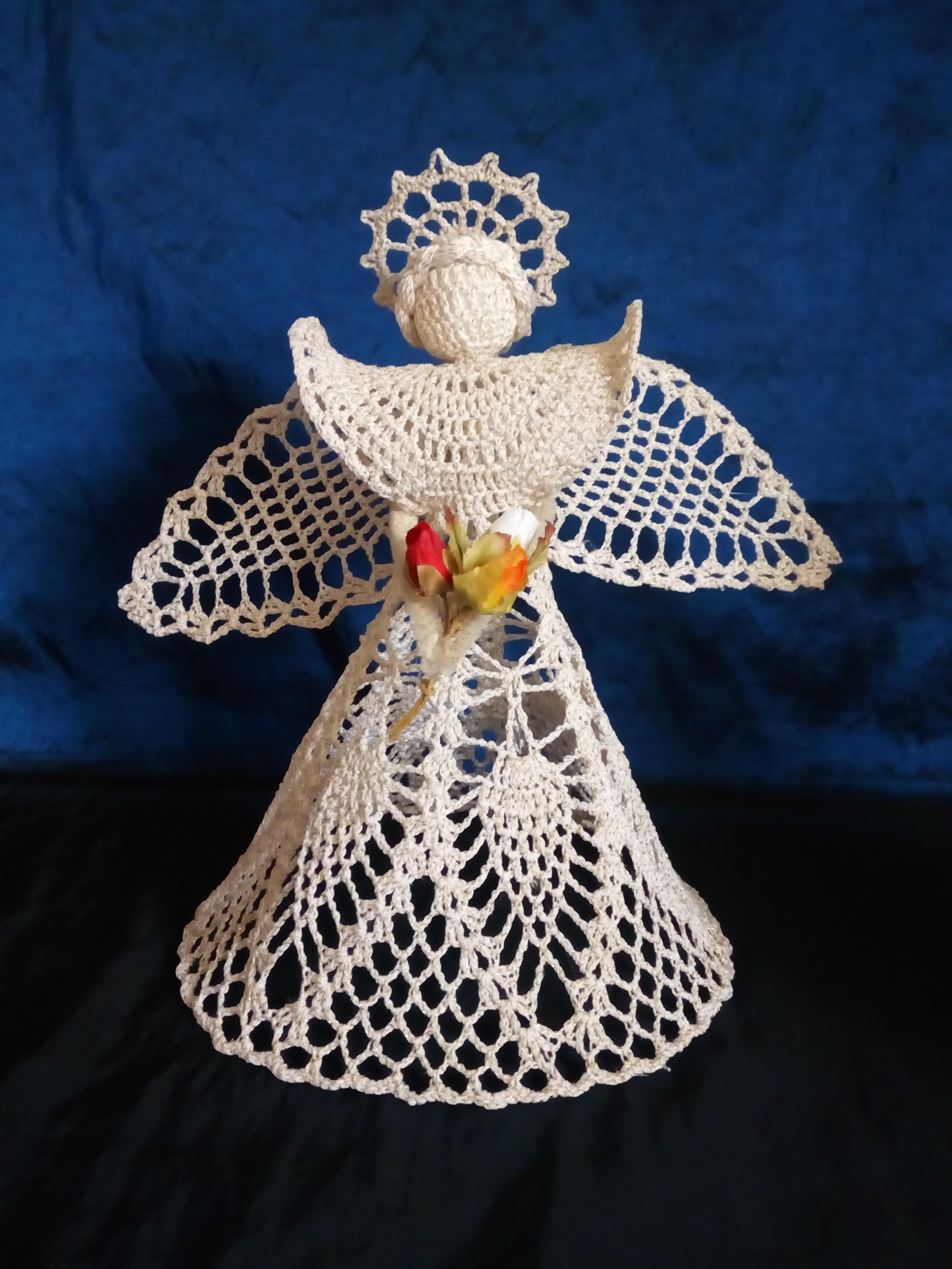 Návod na háčkovaného anděla od Vanezy